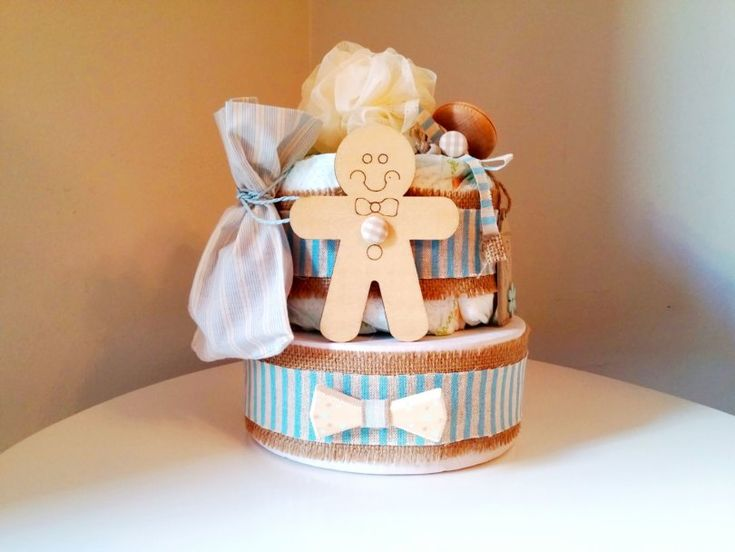 DIY mini Diaper Cake! - Violetmimosa