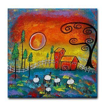 Magical Farm Tile Coaster