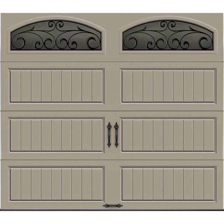 Gallery Collection 8 Ft X 7 Ft Intellicore Insulated Sandstone Garage Door With Window Garage Doors White Garage Doors Garage Door Design