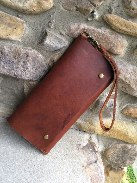 angled edge, Womens Leather Wallet Leather smart phone by WanderingSolesMoccs