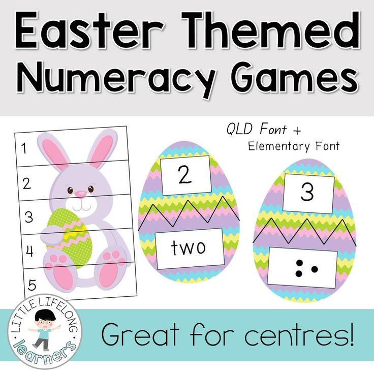 Easter Themed Numeracy Games - perfect for math centres and rotations | Explore the number, patterning and ordering numeracy strand | Numbers, numerals, number words | Prep, Foundation, Kindergarten Maths Resources for the Australian Curriculum