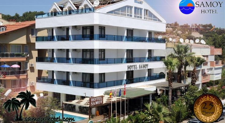 Hotel Samoy Marmaris Just a 5-minute walk from the beaches of Marmaris, Samoy Hotel offers rooms with a TV and a private balcony. Facilities include an outdoor pool.  The rooms of Hotel Samoy are simply furnished with air conditioning and a private bathroom.