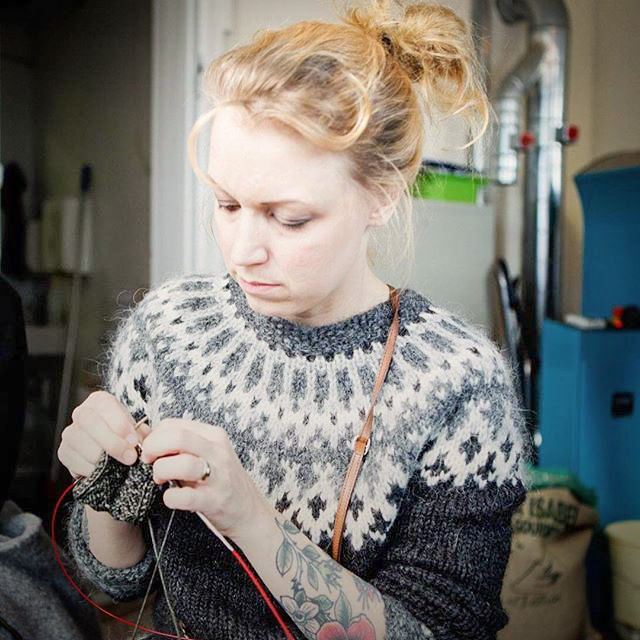 Always knitting a new sweater... the crazy Icelandic Lopi sweater makers