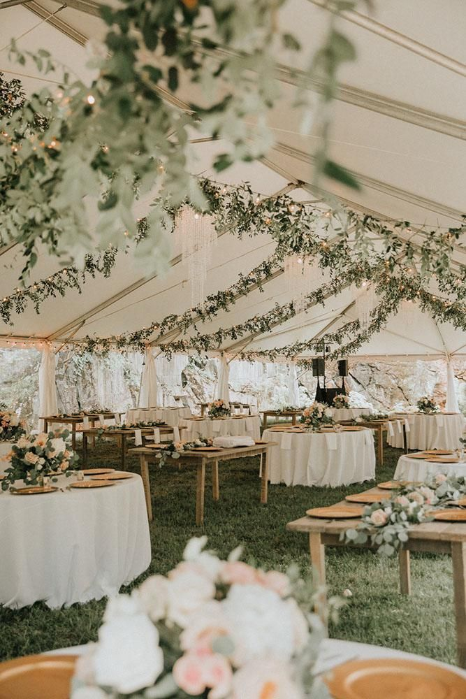 30 Sage Green Wedding Ideas ❤️ sage green wedding recetion under elegant white tent with greenery t&k photography #weddingforward #wedding #bride #weddingdecor #sagegreenwedding