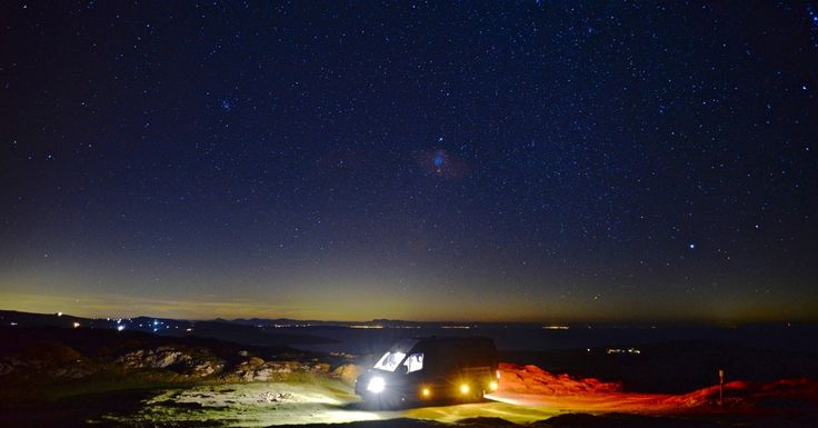 My van 450ft above the sea at the far west of the Lleyn penninsula  beyond Uwchmynydd north Wales
