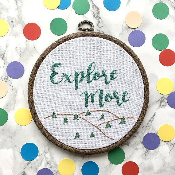 Explore more inspirational quote hand embroidered wall hanging