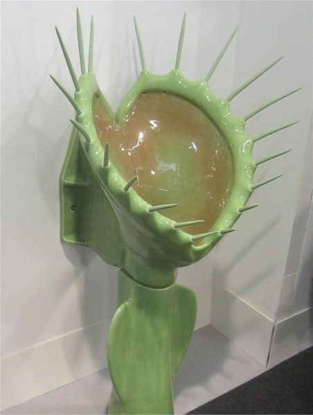 This Venus Fly Trap urinal comes with a $11,500 price tag and a full set of spikes, but fortunately for its future users, they are made of silicone rubber.  San Francisco-based artist Clark Sorensen has been drawing his inspiration from nature - and from nature's call.