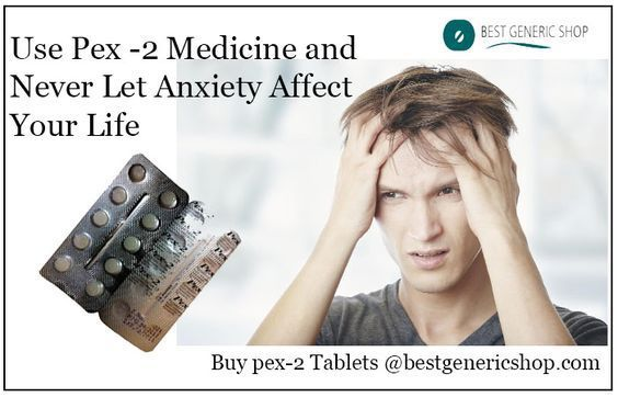 Pex 2 tablet overcomes your connected anxiety, anxiety disorder, and phobic neurosis. This medication once adheres with anxiolytic receptor alters motor coordination, memory, causes muscle relaxation, and anticonvulsant drug action