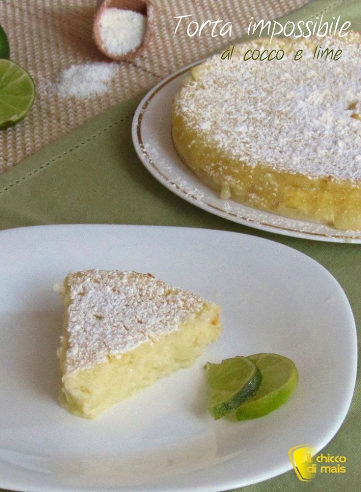 torta impossibile cocco e lime verticale