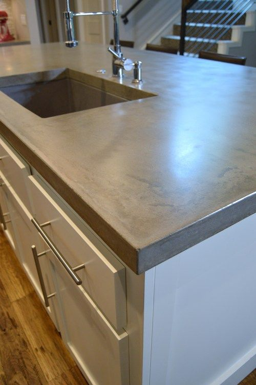 concrete kitchen countertops island 40 best Concrete Countertops images on Pinterest