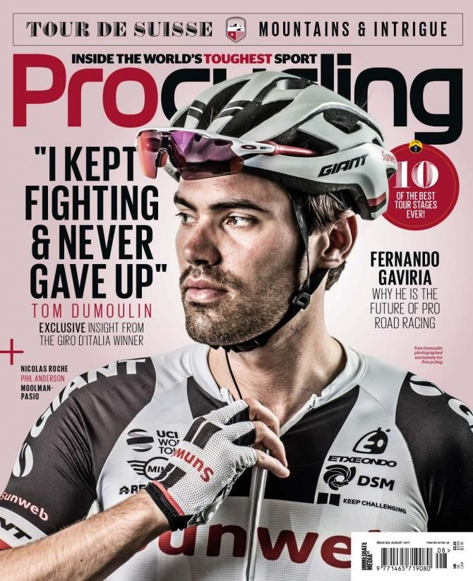 The August cover of ProCycling Magazine