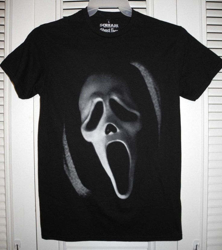 SCREAM GHOST FACE MASK LICENSED BLACK SHORT SLEEVE T-SHIRT S L XL 2XL NEW W/TAG #GoodieTwoSleevesforSCREAM #GraphicTee