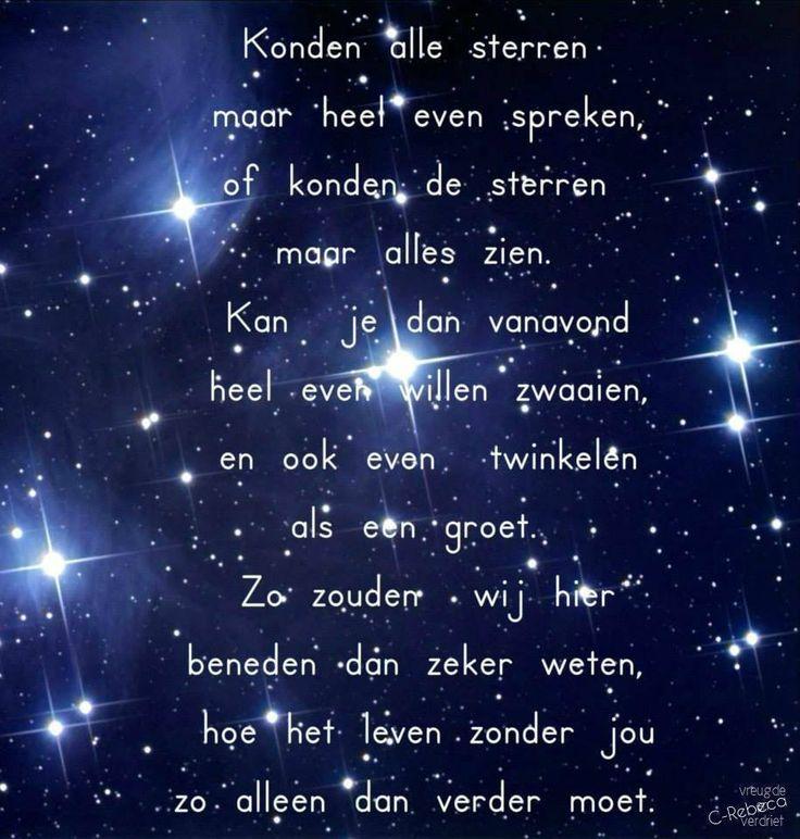Konden alle sterren...........Ja soms een vallende ster en dan mag je een wens doen,..