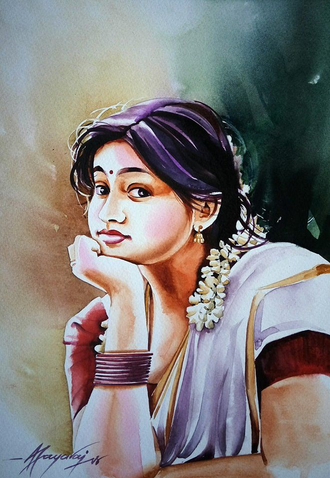 Jayaraj Jayaraj With Images Female Art Painting Fantasy Art