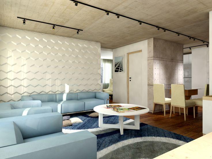 Sala  - Apartamento Conceito - painel 3D