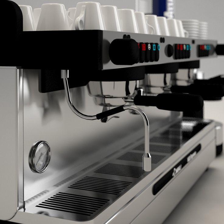 espresso machine cimbali 3d model