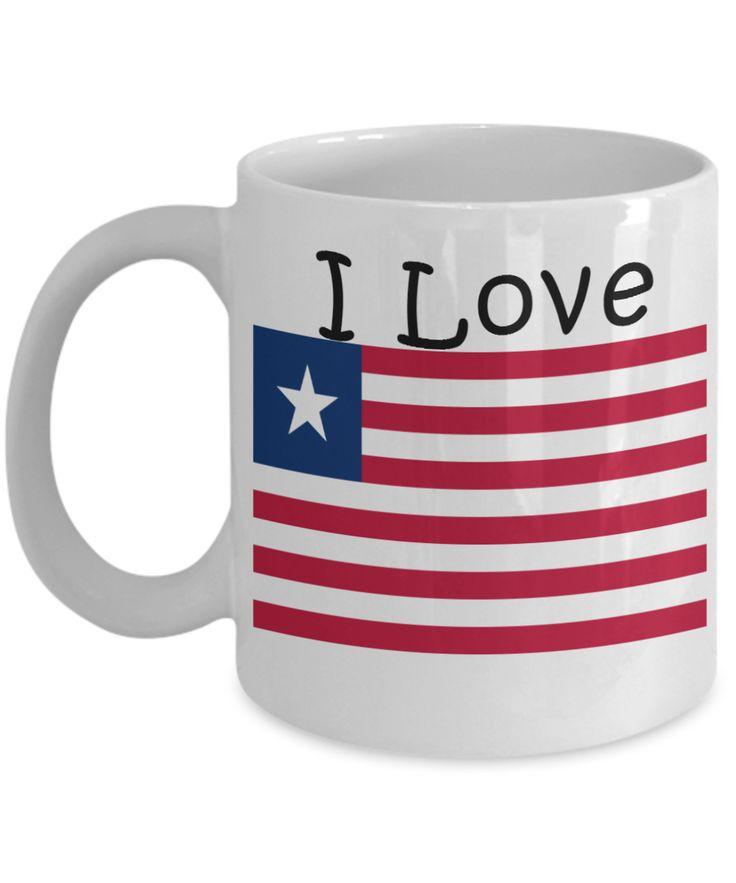 I Love Liberia Coffee Mug With A Flag