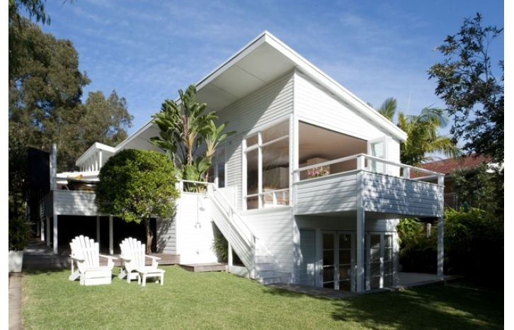 weatherboard balcony all white house. Weatherboard balustrade
