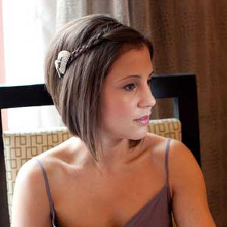 This one looks cute for Brittany! Top 10 Bridesmaid Hairstyles For Short Hair