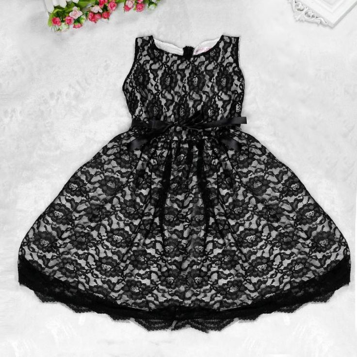 Kids Dress Lace Bow Waist-tie SleeveLess Princess Dress Clothes Princess Sofia Dress Vestidos Meninas #Affiliate