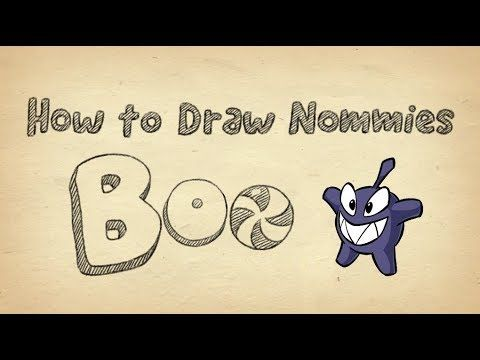 How to Draw Boo from Cut the Rope 2