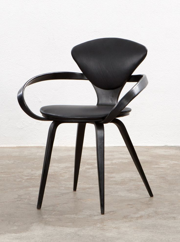 norman cherner armchair plywood leather for plycraft