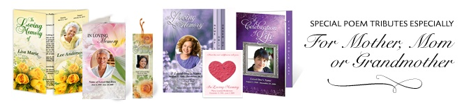 Poems About Death: Best Funeral Poems for Mother (Mom) Grandmother, Sister, or Friend. Huge selection of poetry to choose from especially for a loving tribute.