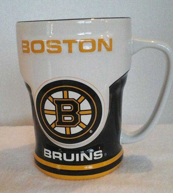 Boston Bruins cup mug NHL It's Hockey Time by LouisandRileys