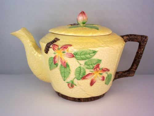 Carlton Ware Yellow Apple Blossom Teapot   eBay