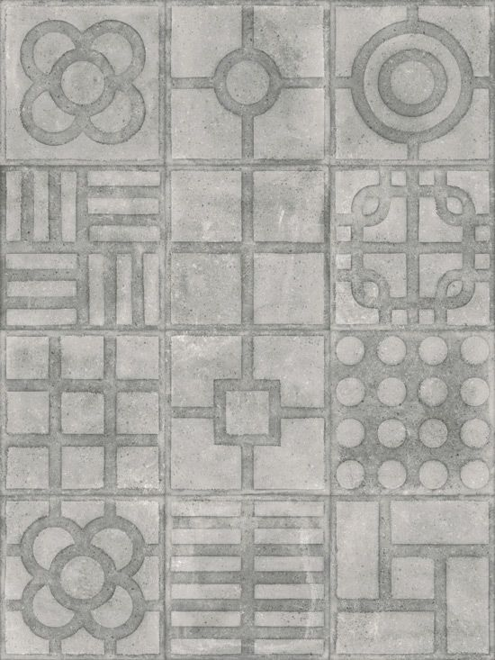 WORLD STREETS: Paulista Cemento - 20x20cm.   Pavimento - Porcelánico   VIVES Azulejos y Gres S.A.