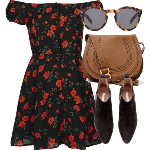 A fashion look from May 2017 featuring Topshop dresses, H&M ankle booties and Chloé shoulder bags. Browse and shop related looks.