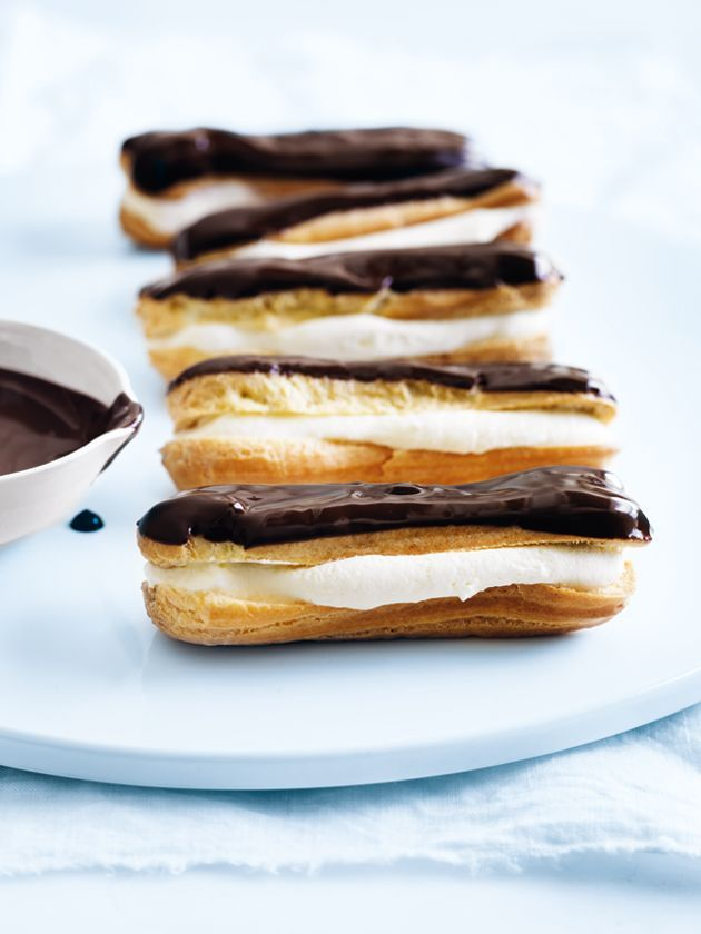 chocolate éclairs from donna hay