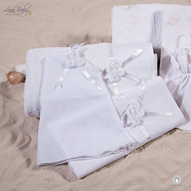 """Λαδόπανο Βάπτισης """"Ιταλική Μουσελίνα"""" Lina Baby 561"""