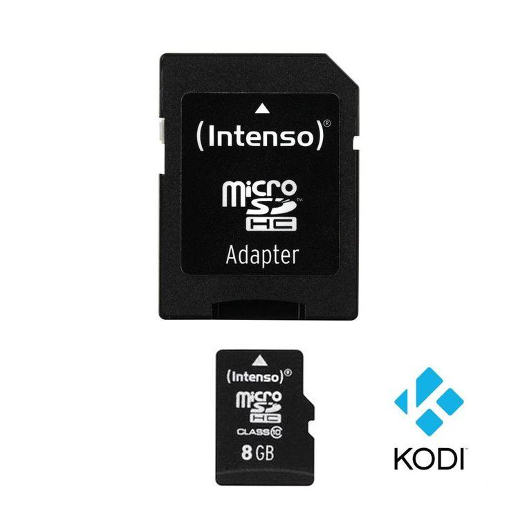 Kodi 15.2 Isengard, XBMC, Micro-SDHC 8GB, Class 10 Karte für Raspberry Pi 2 & 3