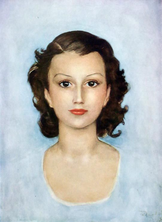 Portrait of the actress Vera Valdor (1936) by Nils Dardel (Swedish 1888-1943)