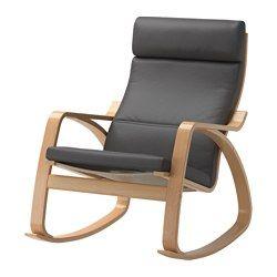 IKEA - POÄNG, Cadeira de baloiço, Finnsta cinz, chapa de faia, , Estrutura de ripas coladas e curvadas em faia, para uma flexibilidade confortável.Como é amovível e lavável na máquina, a capa é fácil de manter limpa.Para se sentar de forma ainda mais confortável, pode combinar com o repousa-pés POÄNG.Almofadas extra disponíveis, para poder renovar a sua poltrona e também a sua sala.O encosto alto propociona um ótimo apoio ao pescoço.Inclui 10 anos de garantia. Saiba mais sobre as condições…
