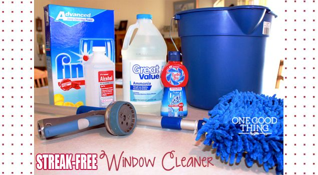 Make Your Own Streak-Free Window Cleaner, no need to use squeegee.
