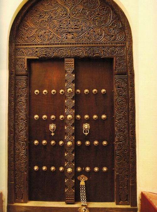 Africa | Carved Swahili doors made in the wood workshops ...
