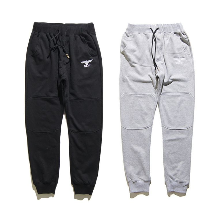 2017 Spring and Autumn New Boy London 1:1 Popular Men and Women Black and White Casual Pants Hip-hop Cotton Fitness Pants M-XXL