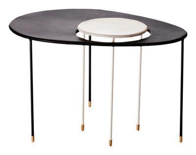 Table d'appoint Kangourou Set 2 tables gigognes - Réédition 50' Noir / blanc - Gubi - Mathieu Matégot
