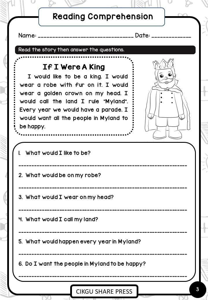Pdf Reading Worksheets 1st Grade Basic Skills Reading Comprehension Cikgu Share Reading Comprehension Reading Worksheets Comprehension Reading worksheets grade pdf