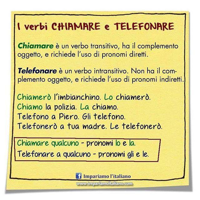 I verbi chiamare e telefonare #learnitalian #learningitalian #studyitalian #italianlanguage #italianteacher #italianlessons #linguaitaliana #imparareitaliano #italienischlernen #impariamoitaliano #grammartips
