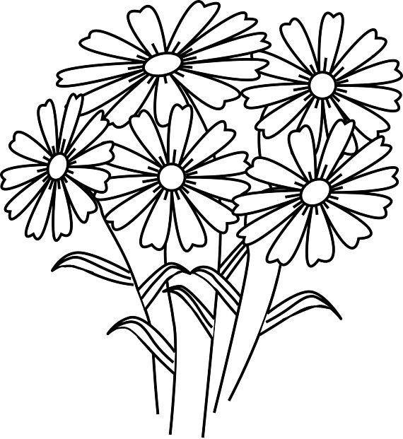 Bouquet Of Flowers Coloring Page New Colouring Pages Bouquet Flowers Printable Free In 2020 Easy Coloring Pages Printable Flower Coloring Pages Flower Coloring Sheets