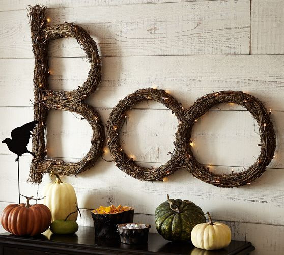 Lit Twig Boo Sign | Pottery Barn