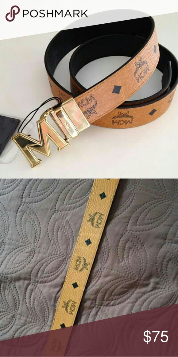 2 MCM Belts Bundle Inspired brown belt and is second belt.  Comment colors and sizes. Make an OFFER!!! MCM Accessories Belts