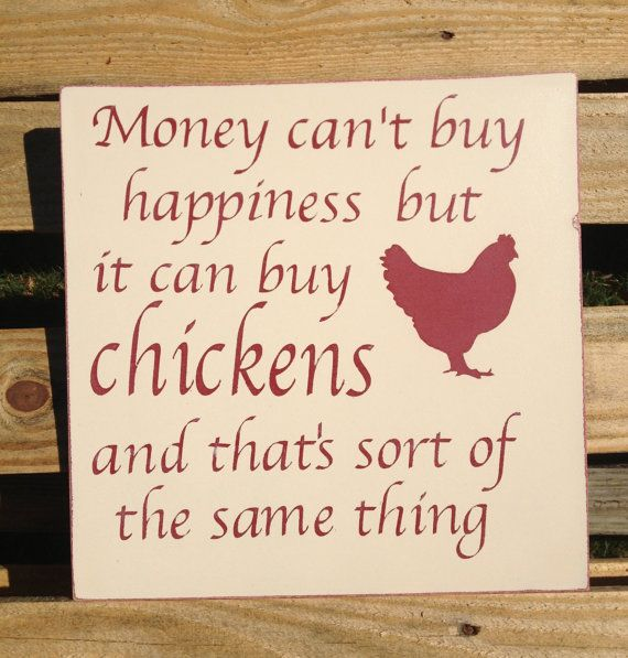 Happy Chickens 12x12 in wood sign by SewBlessedByDiana on Etsy, $20.00
