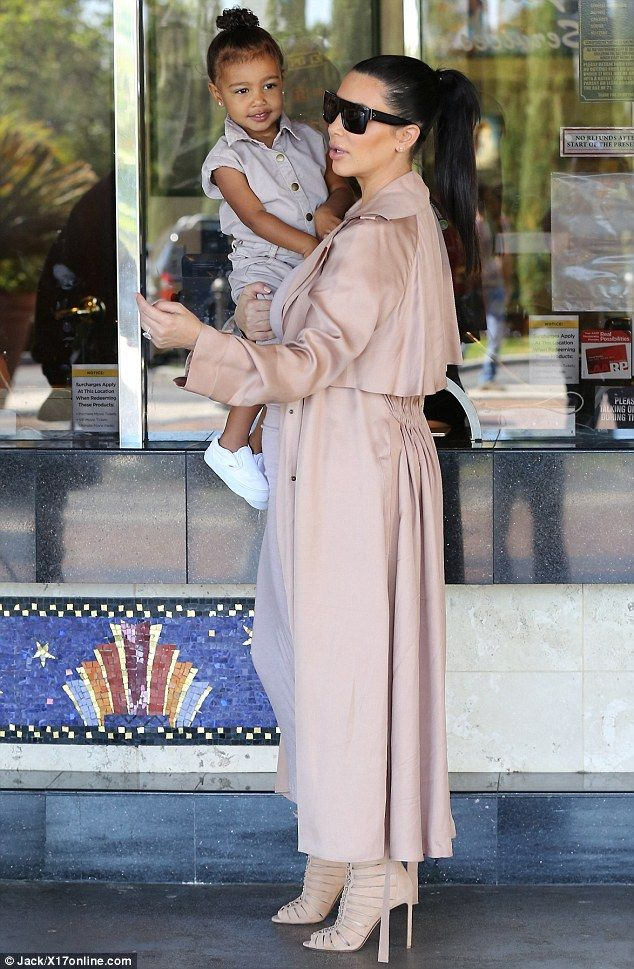 Sunday funday: Kim Kardashian and Kanye West took North to see a movie in Calabasas on Sunday