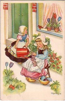 knitting girls