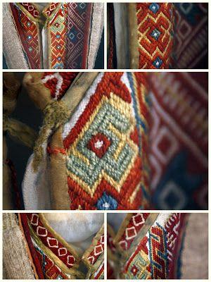 Medieval Silkwork: Kroatian flokloric brick-stitch emroidery