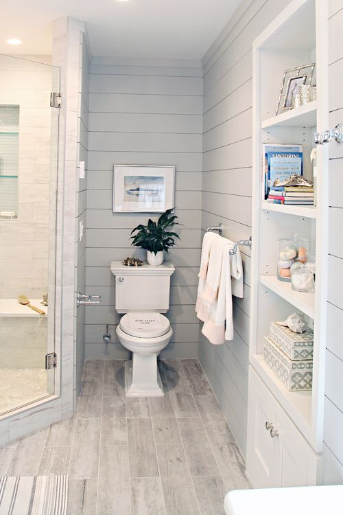 The Pictures Taken Of This House Are Awesome For Ideas I Especially Like The Master Shiplap Bathroomdownstairs Bathroomsmall